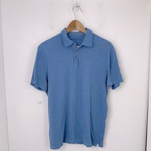 John Varvatos Cotton Polo Henley Shirt